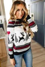 Love Stripe Print Luxury Pullover Christmas Sweater
