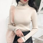 Casual Turtleneck Long Sleeve Pullovers  Knitted Sweater