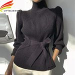 Knitted Elasticity Casual Fashion Turtleneck Pullovers Sweaters