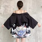cardigan casual half sleeve loose kimono