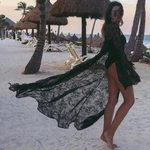 Cover Up Sexy Beach Cover Up Lace Floral Kimono
