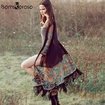 Cardigan Casual Fashion Hippie Embroidery Tassel Kimono