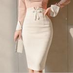 Pencil Zipper Split High Waist Office Skirts