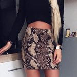 Bandage Snake Print Pencil  Skirts