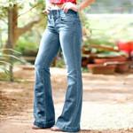 Loose Casual Pocket Button Loose High Waist Retro Wide Leg Jean