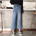 Slim High waist Loose Straight Jeans