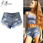 Fashionable Sexy Slim Jeans High Waist booty Denim Shorts
