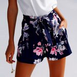 Elegant Fashion Ruffles Casual Sexy Print High Waist Shorts