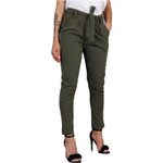 Casual  Belt Fashion Office Slim Pencil Trousers Long Pants
