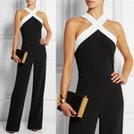 Sexy Halter Neck Off Shoulder Sleeveless Long Jumpsuits