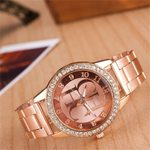 stainless steel  Luxury Fashion Crystal Dress Quartz Watches