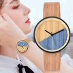 Luxury Watch Leather Quartz  Fashion Wood Watch