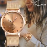 Casual Quartz Plastic Leather Starry Sky Analog Wrist Watch