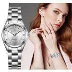 Bracelet Quartz Waterproof Stainless Steel Rhinestone Watch