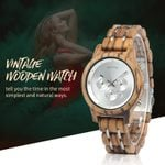 Quartz Movement Clock  Simple Wood Wrist Watches