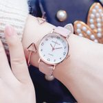 vintage leather band Love scale simple quartz watch