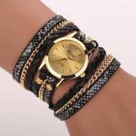 Leopard Band Bracelet Quartz Braided Wrist Watch