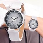 round simple  Flower Casual watch