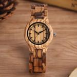 Analog Quartz Elegant Fashion Simple Plate Wood Watch
