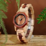 Bracelet Wrist Octagon Wooden Watch