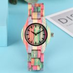 Luxury Clock Quartz Bracelet Fashion Wood  Watch