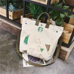 canvas Starbucks casual shoulder fashion literary handbag