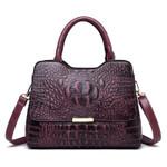 Genuine Leather Tote Crocodile Pattern Luxury Handbags