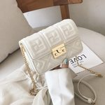 fashion shoulder slung chain casual small square handbag