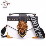 Fashion Metal Lion Head Mini Small Square Shoulder Handbags
