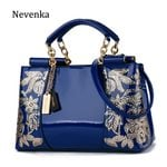 Luxury Shoulder Embroidery Leather Purses Handbags