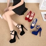 Fashion Cross Straps Super High Heels