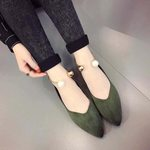 Pointed Toe Shallow Casual Boat  Flat Shoes