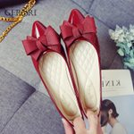 Casual Loafers Bow-knot Pointed Toe Fashion Flat Shoes