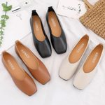Loafers Boat Comfortable Square Toe Slip on Flat Shoes