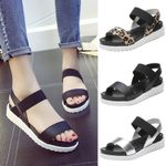 Aged Leather Flat Casual Sandals Fashion