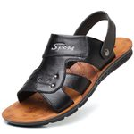 Leather Casual Hollow Out Breathable Open Toe Sandals