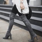 Lace Up Thigh Over The Knee Boots