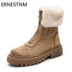 Warm Winter Zipper Flat Ankle Boot