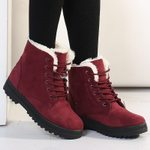 Fur Plush Insole Ankle Boots Snow Boots