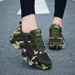 Fly Knit Breathable Casual Army Camouflage Fashion Sneakers
