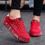 Lace-up Casual Breathable Canvas Lover Fashion Platform Shoes