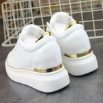 Leather  Casual Platform Wedge Sneakers