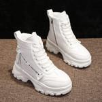 Chunky Platform High Heel Casual  Fur Sneakers