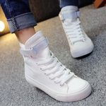 Casual Basket Lace Up Sneakers Canvas Shoes