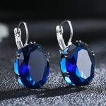 Water Drop Fashion Jewelry Oval Crystal Stone Rhombus Earring