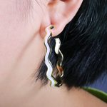 Trendy Romantic Big Wave Loop Hoop Earrings