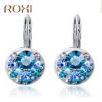 Fashion Jewelry  Round Stone Zircon Earrings