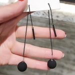 long tassels metal ball Drop Jewelry earrings