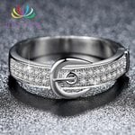 Fashion Micro Pave Cubic Jewelry Wedding Bands Belt Rings