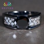 Micro Pave Clear Crystal  Wedding Oval Zircon Rings